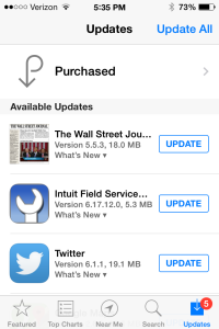 iOS app update for Intuit Field Service Management